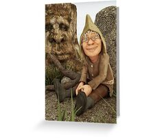 The Gnome and The Forever Sleeping Tree Greeting Card