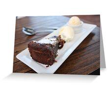 Flourless Chocolate Cake with Cream Greeting Card