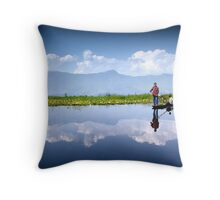 Dal Lake, Kashmir Throw Pillow