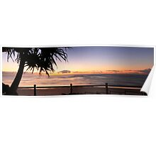 Sunrise Seven Mile Beach - Lennox Head NSW Poster