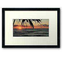 Sunrise Seven Mile Beach - Lennox Head NSW Framed Print