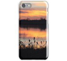 Sunset on Struble Lake iPhone Case/Skin