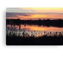 Sunset on Struble Lake Canvas Print
