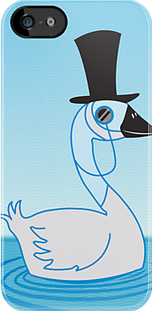 A very Uppity Upper Class Swan with monocle by jazzydevil