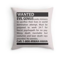 Minions Wanted Throw Pillow