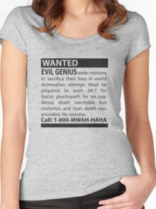 Minions Wanted Women's Fitted Scoop T-Shirt