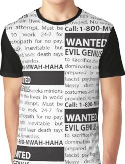 Minions Wanted Graphic T-Shirt