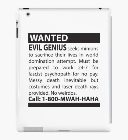 Minions Wanted iPad Case/Skin