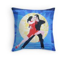 Prismatic Argentinean Tango Dancers Throw Pillow