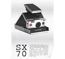 Polaroid SX-70 Alpha One Red Button Poster
