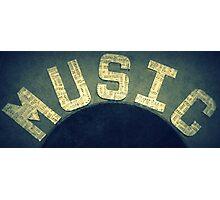 Music Makes the World go Round Photographic Print