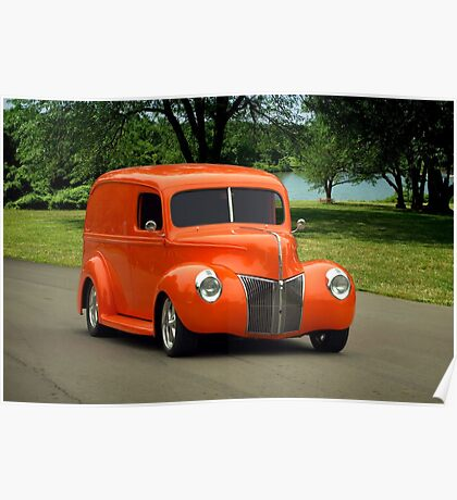 1940 Ford Panel Truck Poster