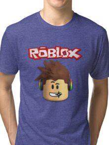 Roblox Character Head Tri-blend T-Shirt