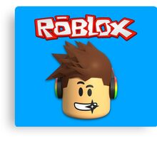 Roblox Character Head Canvas Print