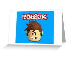 Roblox Character Head Greeting Card