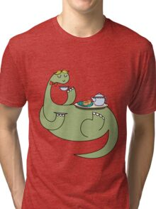 Caricature 1# Oli The Sociable Dinosaur Tri-blend T-Shirt