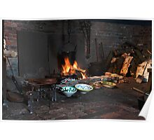 Gainsborough Old Hall-Kitchen fire Poster