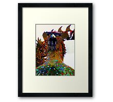 Hungry Dragon Framed Print