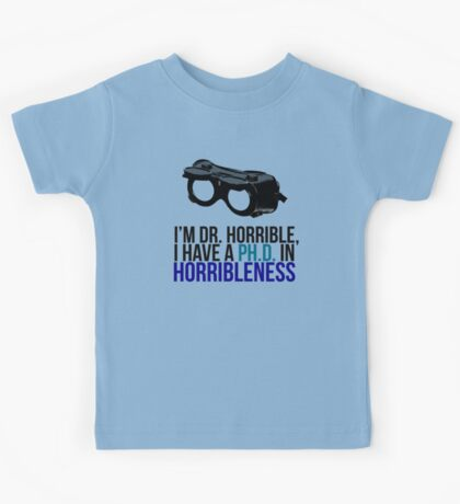 PH D in Horribleness A Kids Tee