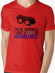 PH D in Horribleness A Mens V-Neck T-Shirt