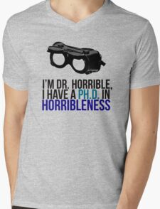 PH D in Horribleness A Mens V-Neck T-Shirt