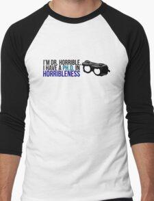 PhD in Horribleness B Men's Baseball ¾ T-Shirt