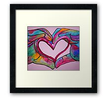 Universal Sign for Love - You Hold my Heart in Your Hand Framed Print