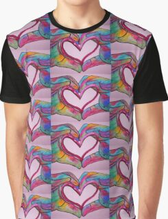 Universal Sign for Love - You Hold my Heart in Your Hand Graphic T-Shirt