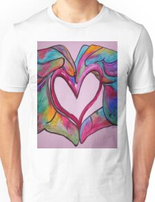 Universal Sign for Love - You Hold my Heart in Your Hand Unisex T-Shirt
