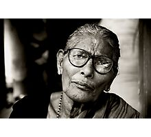 Portrait of a Woman in Madurai Photographic Print