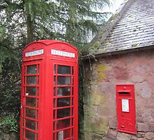 Telephone and postbox by jmnicolson