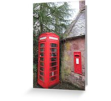 Telephone and postbox Greeting Card
