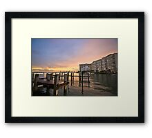 Miami View Framed Print