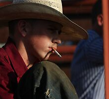 Smoking Cowboy by Jared Lindsay