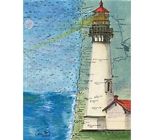 Yaquina Head Lighthouse OR Chart Cathy Peek Photographic Print
