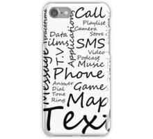 I Phone Typography Collage (white)  iPhone Case/Skin
