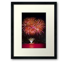 Orange Blossom Bursts   New Years Eve   Sydney Harbour Framed Print