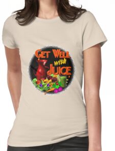 Get well with juice by Valxart Womens Fitted T-Shirt