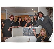 Laurence Llewelyn Bowen in a Dolphin Bathrooms store Poster