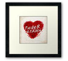 never ending love Framed Print
