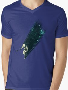 Cosmic Selfie Mens V-Neck T-Shirt