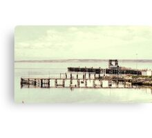 Jetty on Election Day Canvas Print