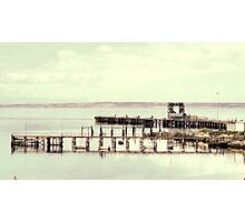 Jetty on Election Day Photographic Print