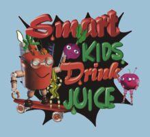 Smart Kids drink juice by Valxart  One Piece - Short Sleeve