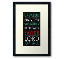 Savior Framed Print