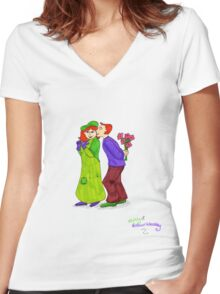 Molly and Arthur Weasley Women's Fitted V-Neck T-Shirt