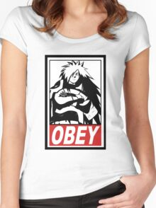 OBEY Madara Uchiha  Women's Fitted Scoop T-Shirt