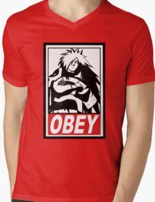 OBEY Madara Uchiha  Mens V-Neck T-Shirt