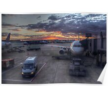 Chicago O'Hare Sunset Poster
