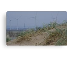 Camber Sands to Romney Marsh Power Fields Canvas Print
